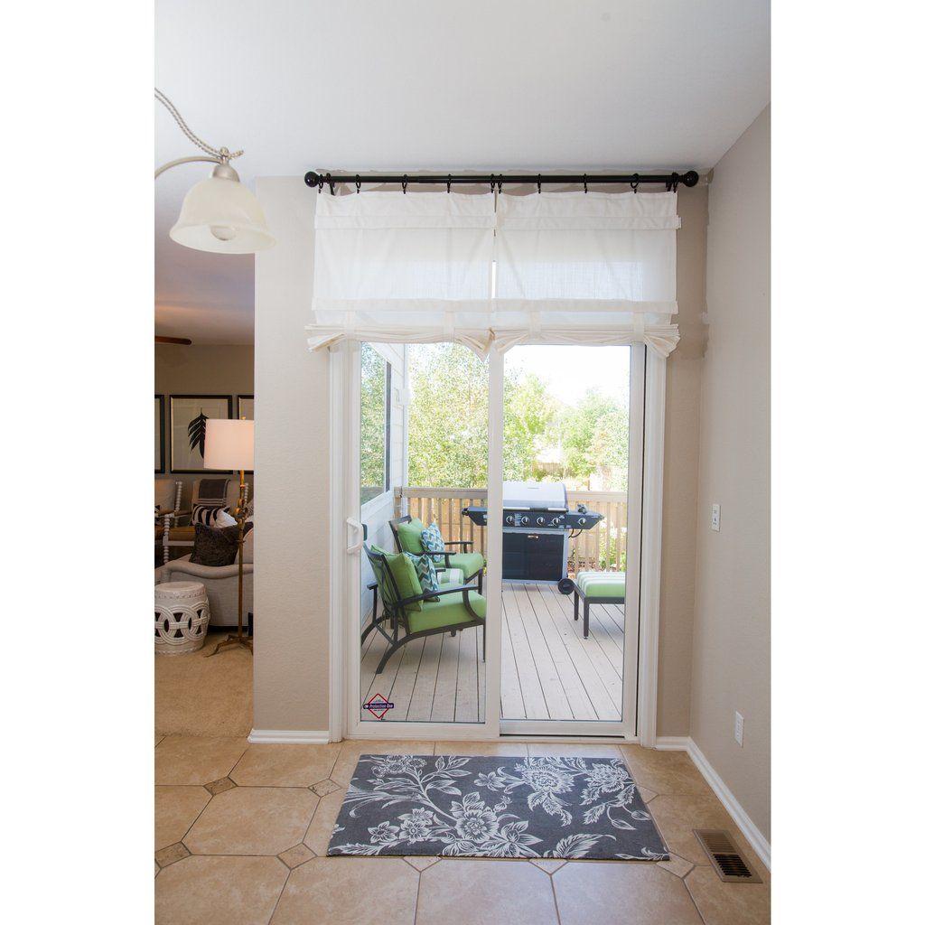 Off White Sliding Glass Door Curtain Shade Dani Designs