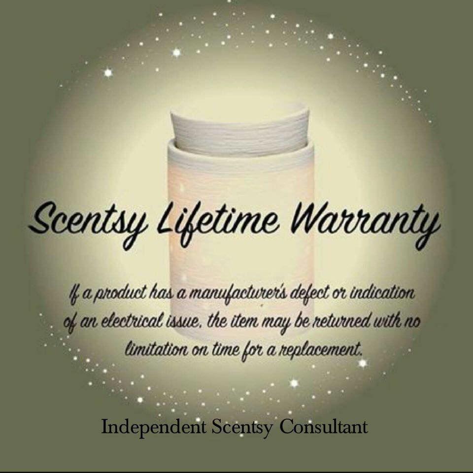 Scentsy's lifetime warranty scentsy business Pinterest