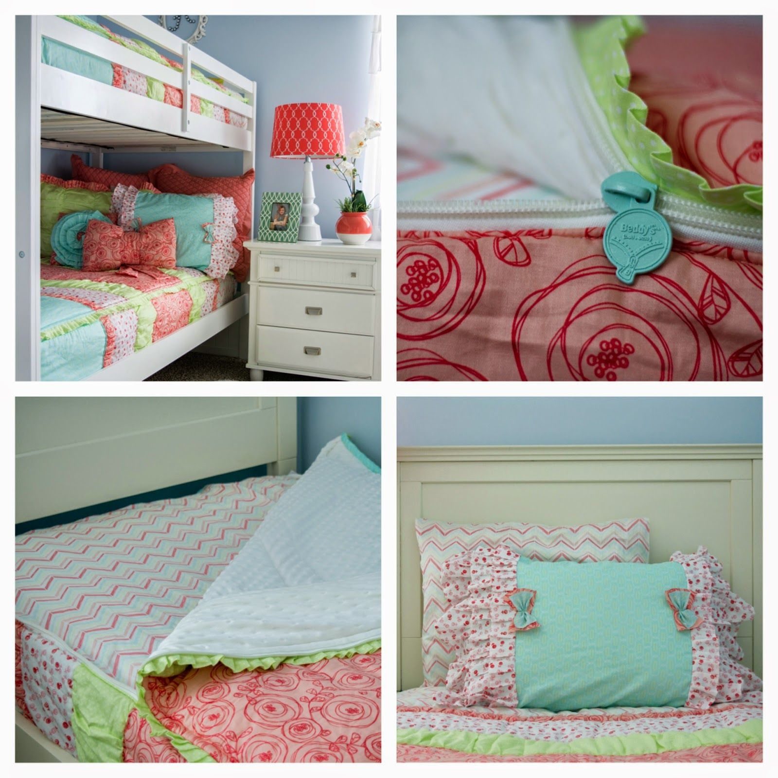 Zipper Bedding Perfect For Bunk Beds And Daybeds Cute Girls