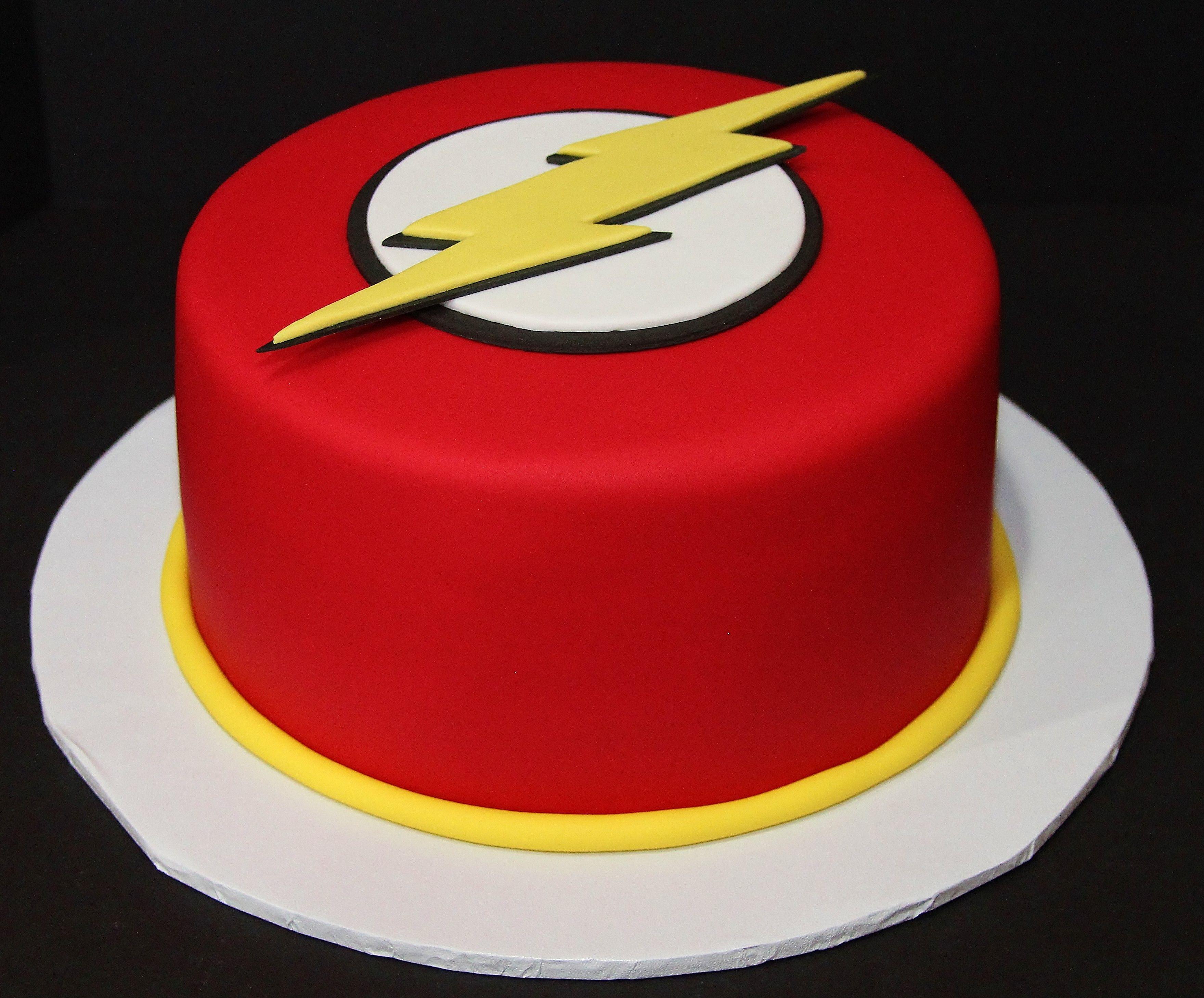 Flash Birthday Cake by cecy Huezo . www.delightfulcakesbycecy.com ...