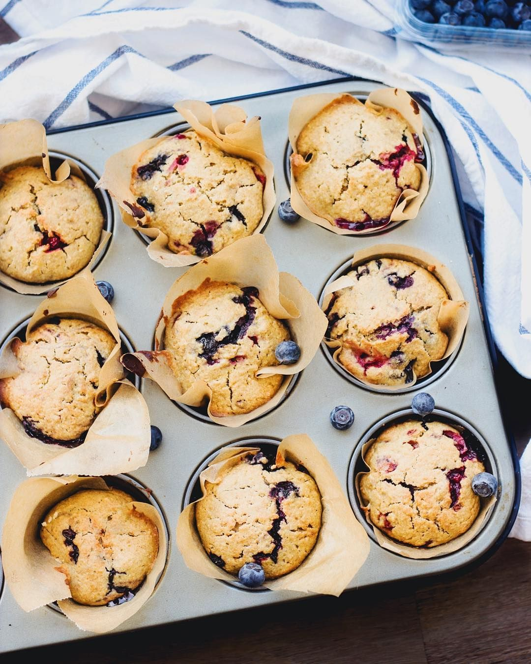 Healthy, vegan and super delicious blueberry muffins