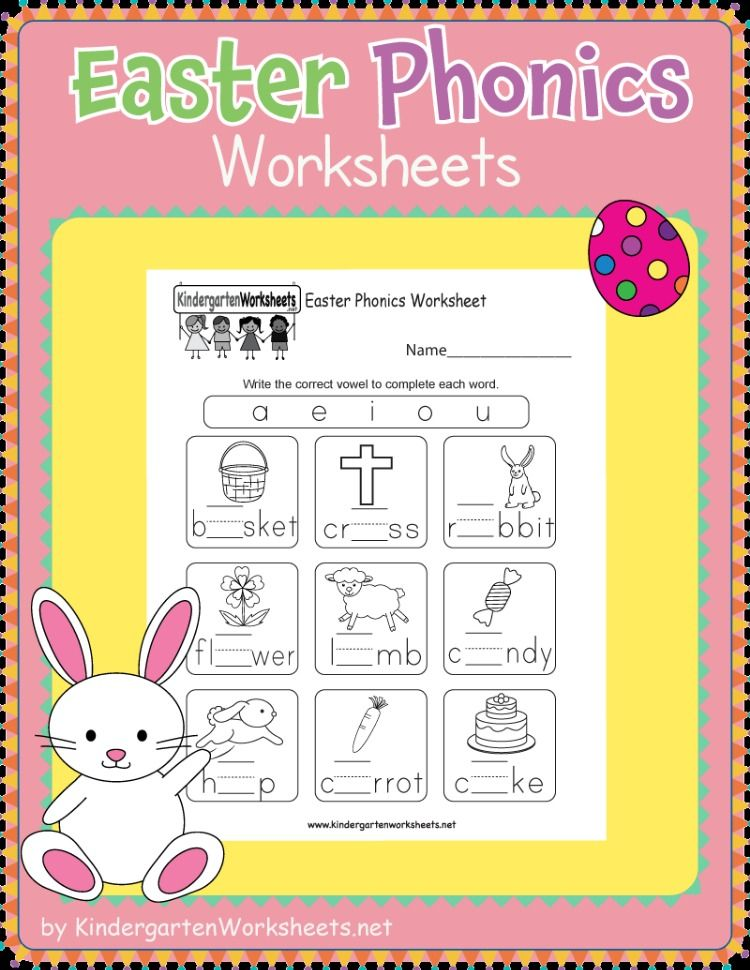 This Is A Fun Easter Phonics Worksheet For Kindergarteners Kids