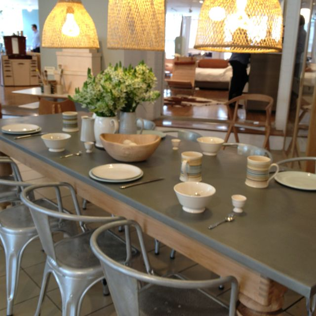 Zinc Top Dining Table And Chairs Metal And Wood Work So Well