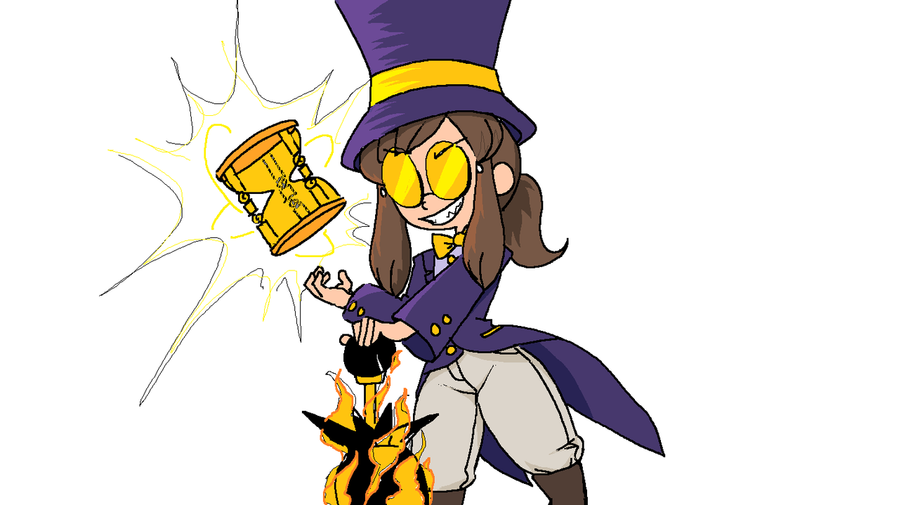 What If Hat Kid Were A Bad Guy W A Hat In Time In 2021 A Hat In Time Bad Guy Pretty Art