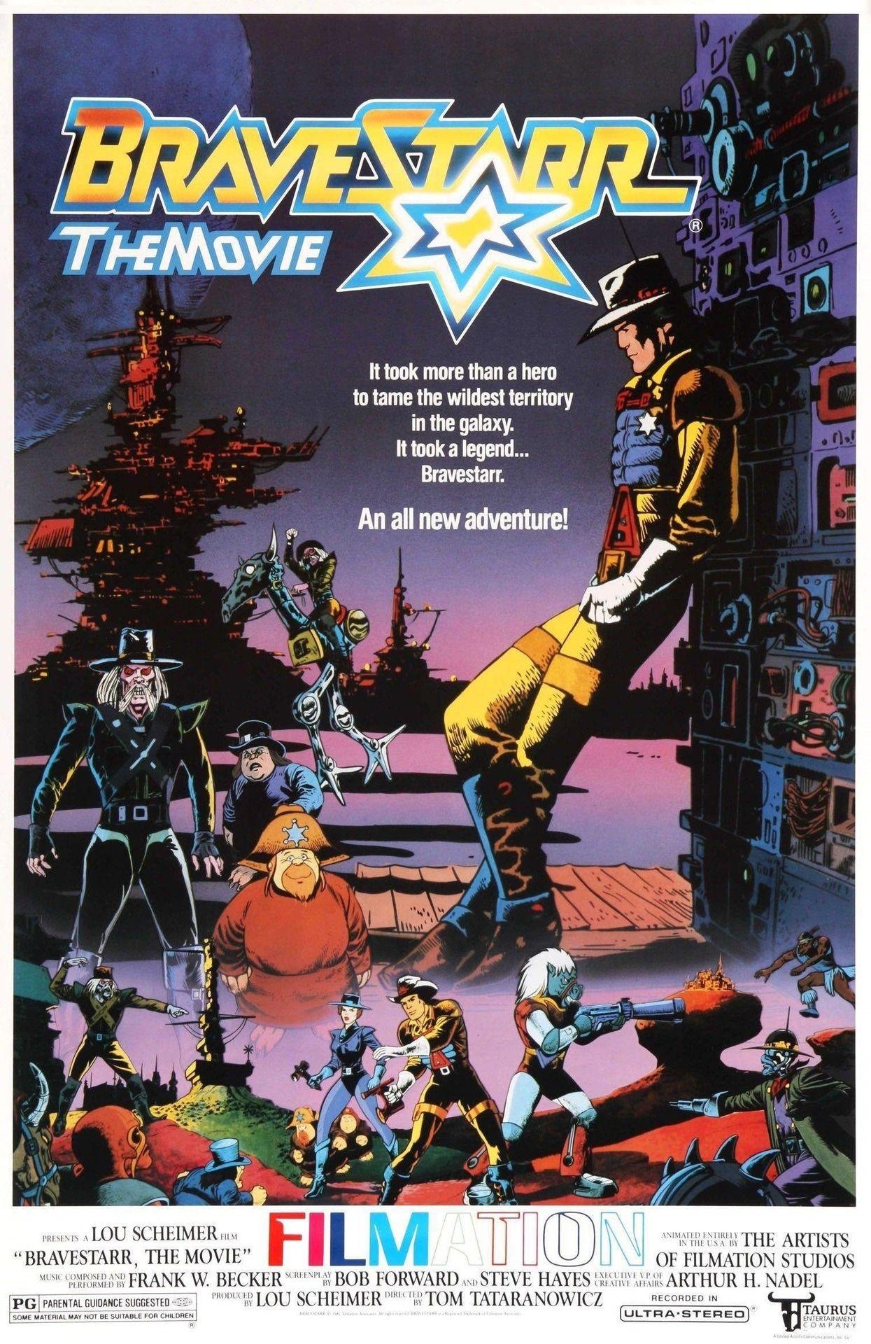 Bravestarr the legend 1988 cartoon posters 80s