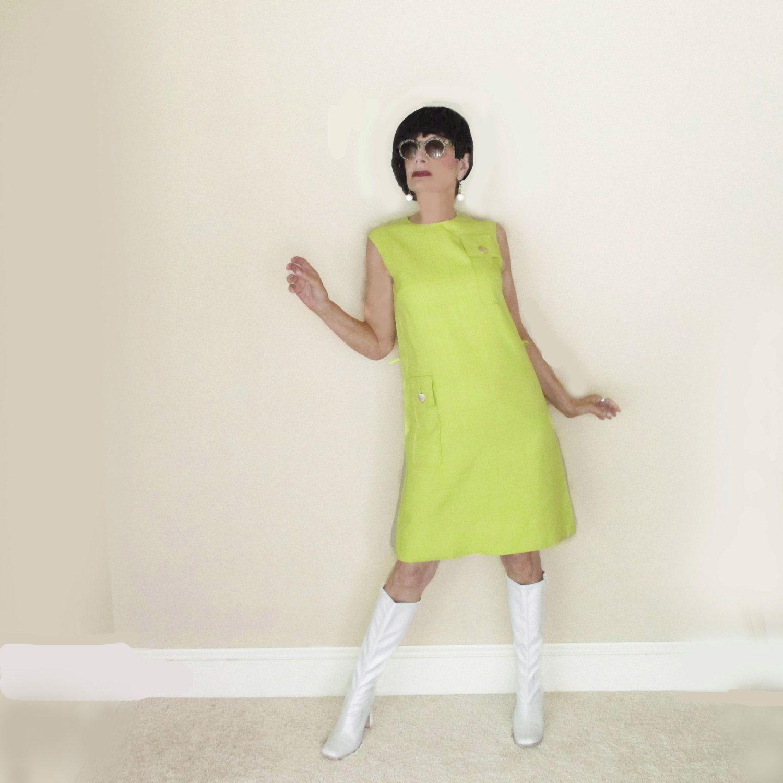 60s Mod A Line Shift Dress Vintage Lime Green Spring Summer Etsy Vintage Dresses Fashion Shift Dress [ 1500 x 1500 Pixel ]