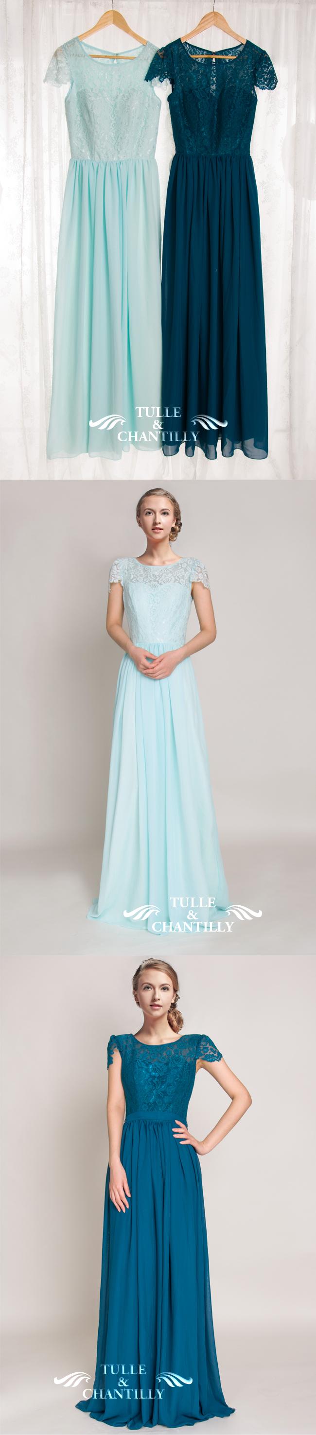 Light Teal Bridesmaid Dresses Sleeves