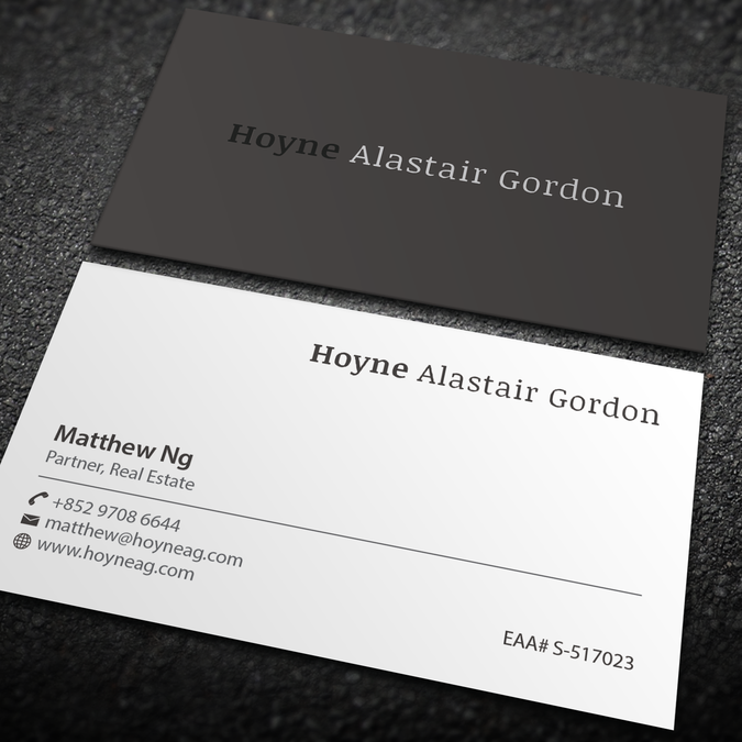 business card design for boutique consultancy firm by an designer
