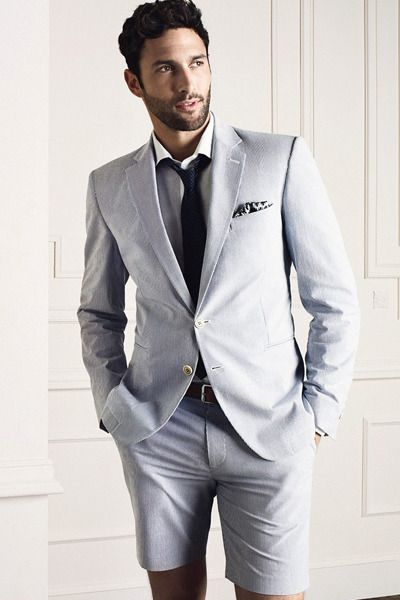 Groom Short Suit For Summer Weddings In Las Vegas