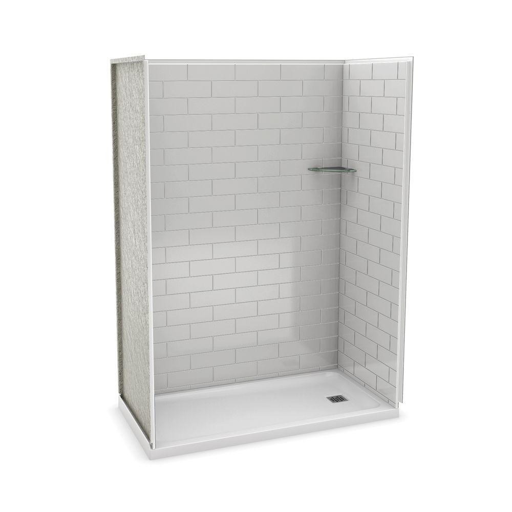 Utile by MAAX 32 in. x 60 in. x 83.5 in. Alcove Shower Kit with ...