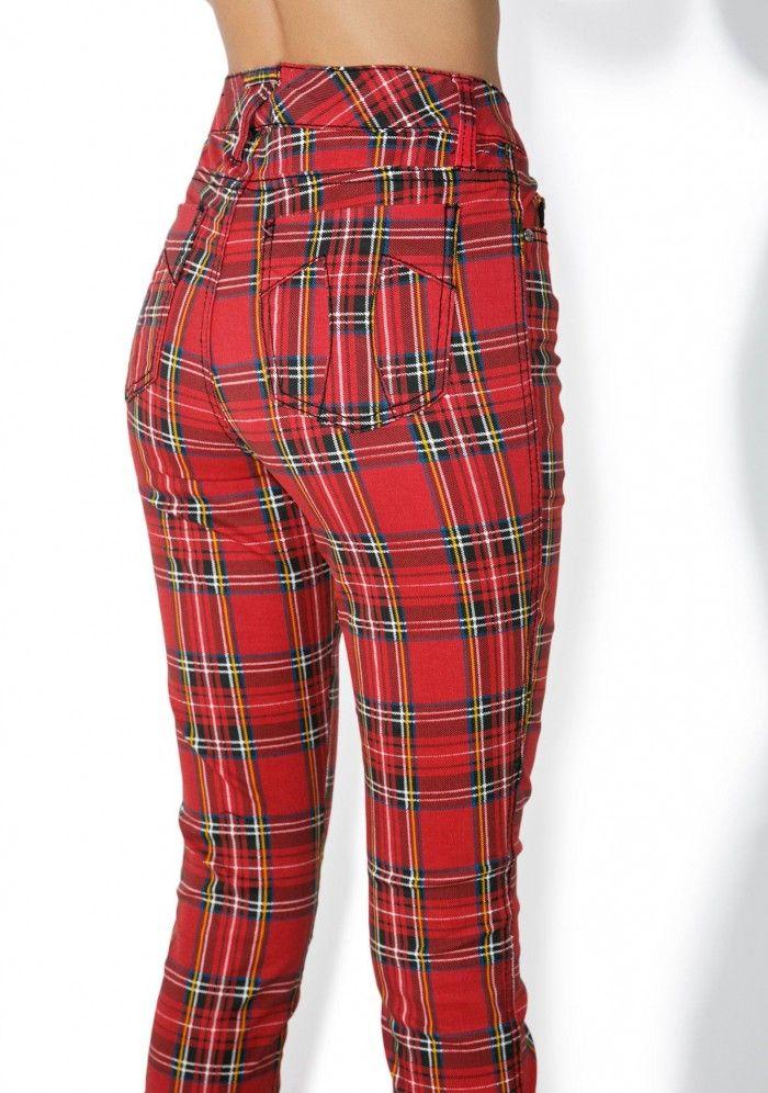 3ec99e4dbf High Waisted Plaid Pants   clothes   Plaid pants, Pants, Plaid