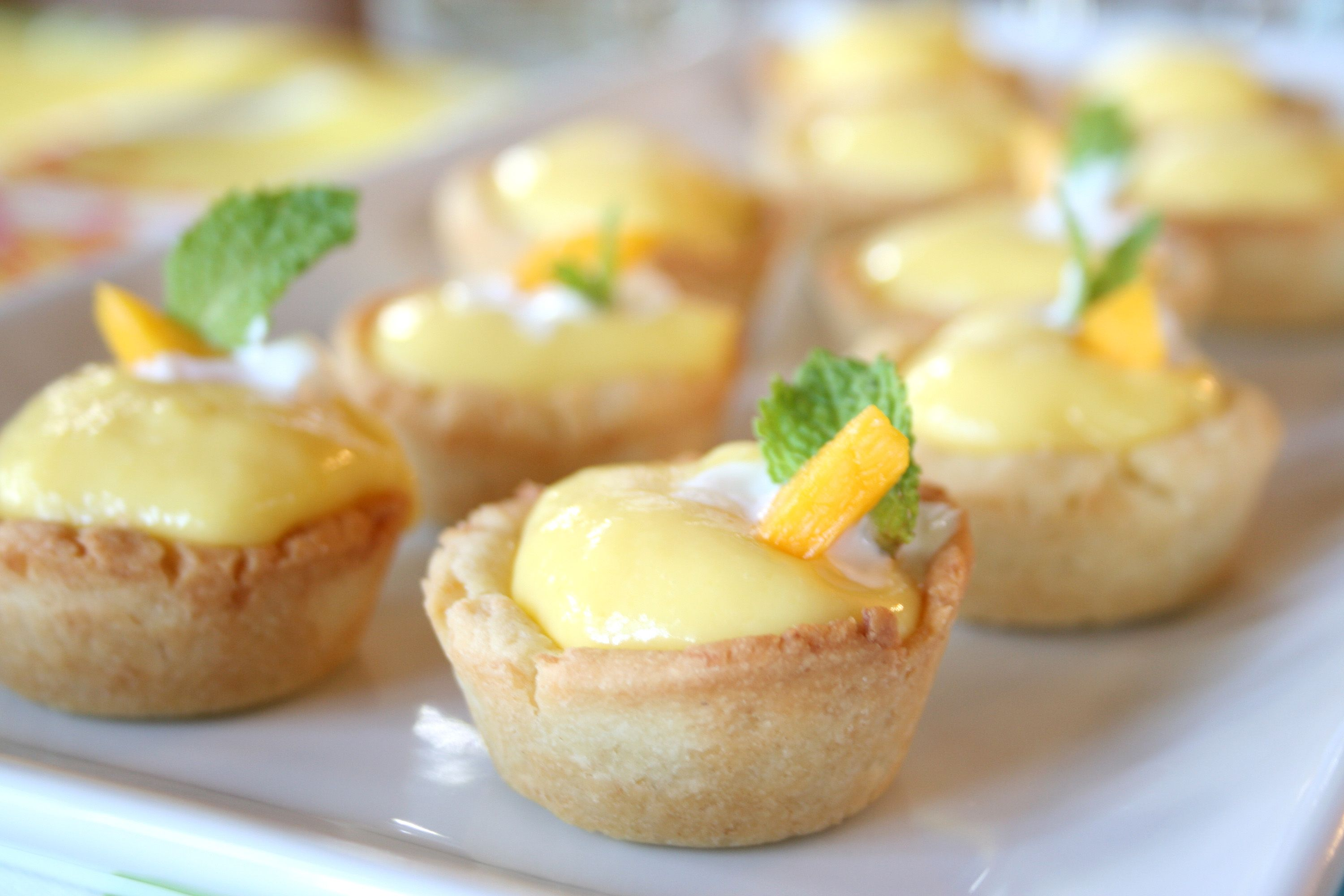 Coconut Shortbread Tartlets filled with Mango Curd | All About Food