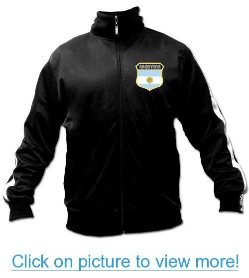 Men's Ghast Argentina Soccer Track Jacket Black, Futbol