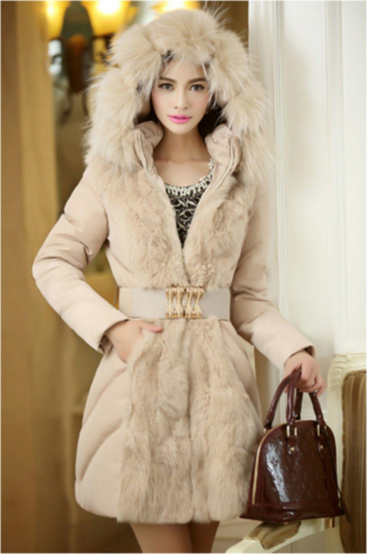 Manteau JADE, Doudoune Femme, Doudoune coton, Veste à capuche avec fourrure  , Manteau Fourrure dd08fc6476f