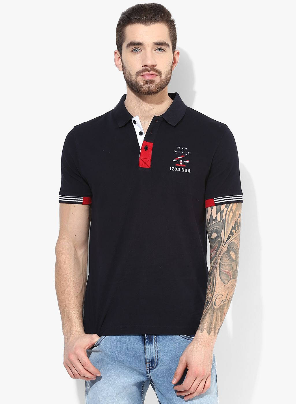 Buy Izod Navy Blue Polo T-Shirt for Men Online India, Best Prices, Reviews | IZ073MA99NQMINDFAS