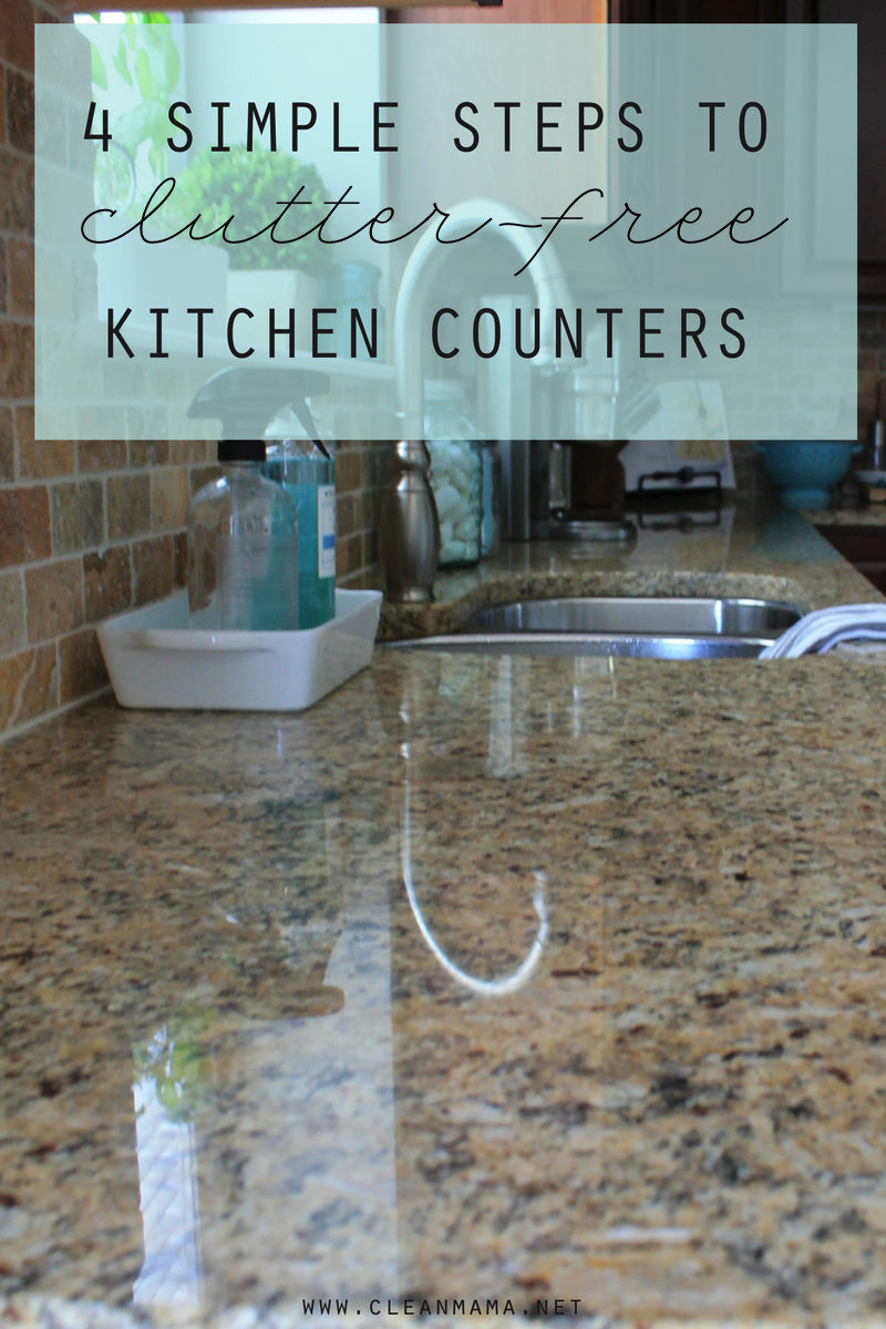 4 Simple Steps to Clutter-Free Kitchen Counters   Organization ideas ...