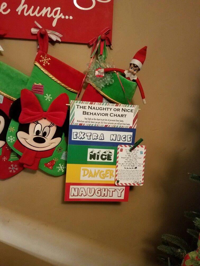 Christmas Naughty Or Nice Chart.Naughty Or Nice Behavior Chart Elf On The Shelf Ryder S