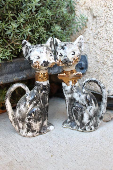 Darling 1930's Marty Ceramic Salt & Pepper Shakers