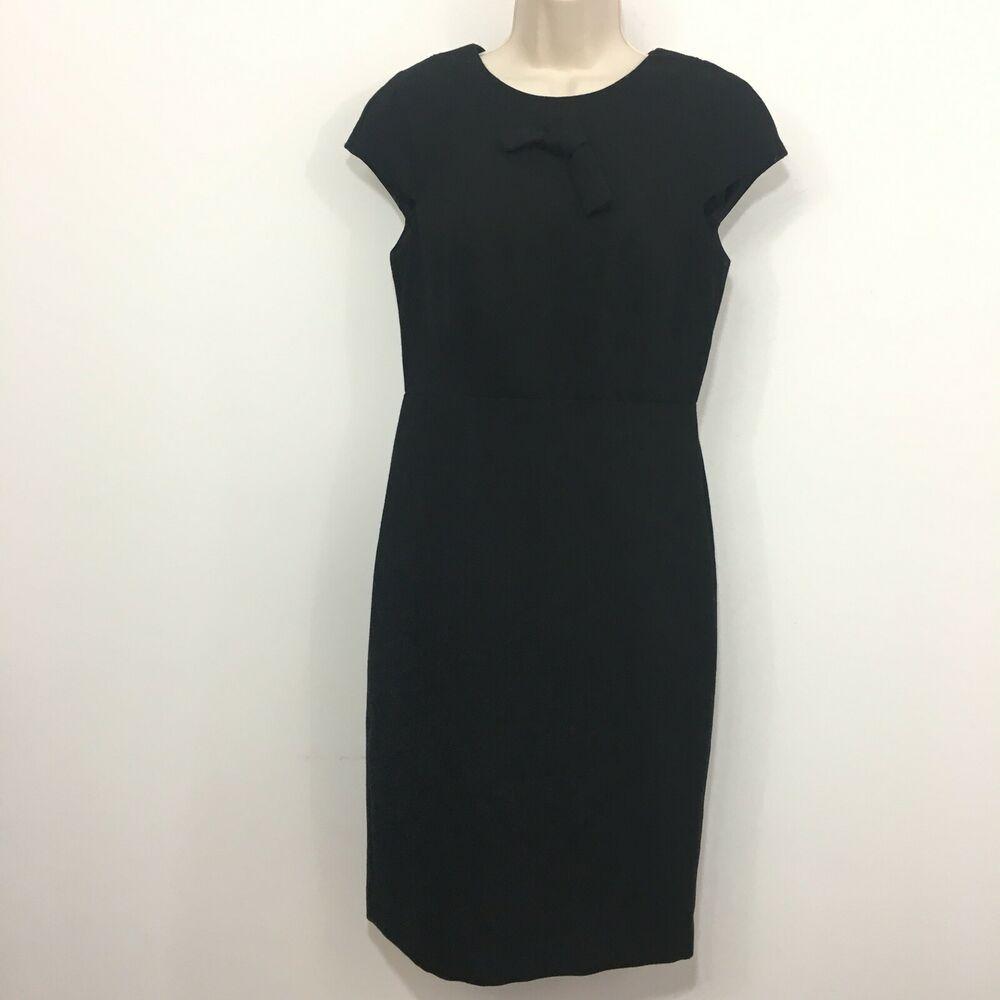 New Talbots Sheath Dress Sz 4 Black Wool Blend Cap Sleeve Bow Career 169 Ebay Black Sheath Dress Black Wool Sheath Dress [ 1000 x 1000 Pixel ]