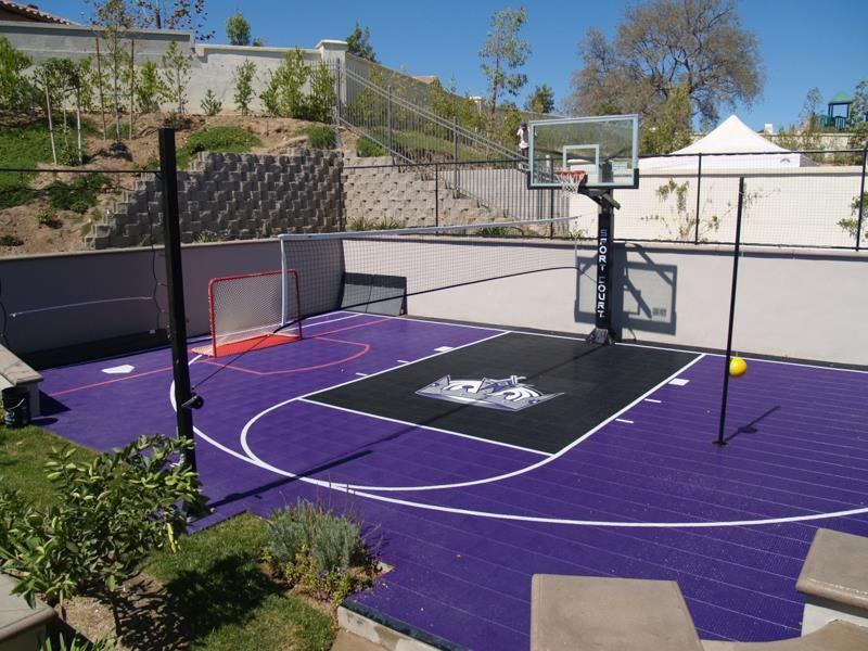 Sport Court® Game Court | Backyard court, Basketball court ...