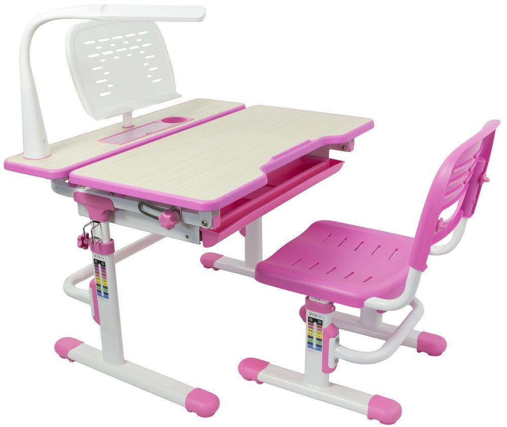 VIVO Height Adjustable Childrens Desk /& Chair Kids Interactive Work Station Pink