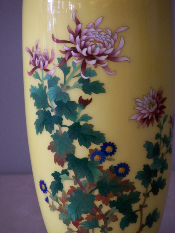 Japanese Ando Cloisonne With Royal Chrysanthemum Perfect Style For