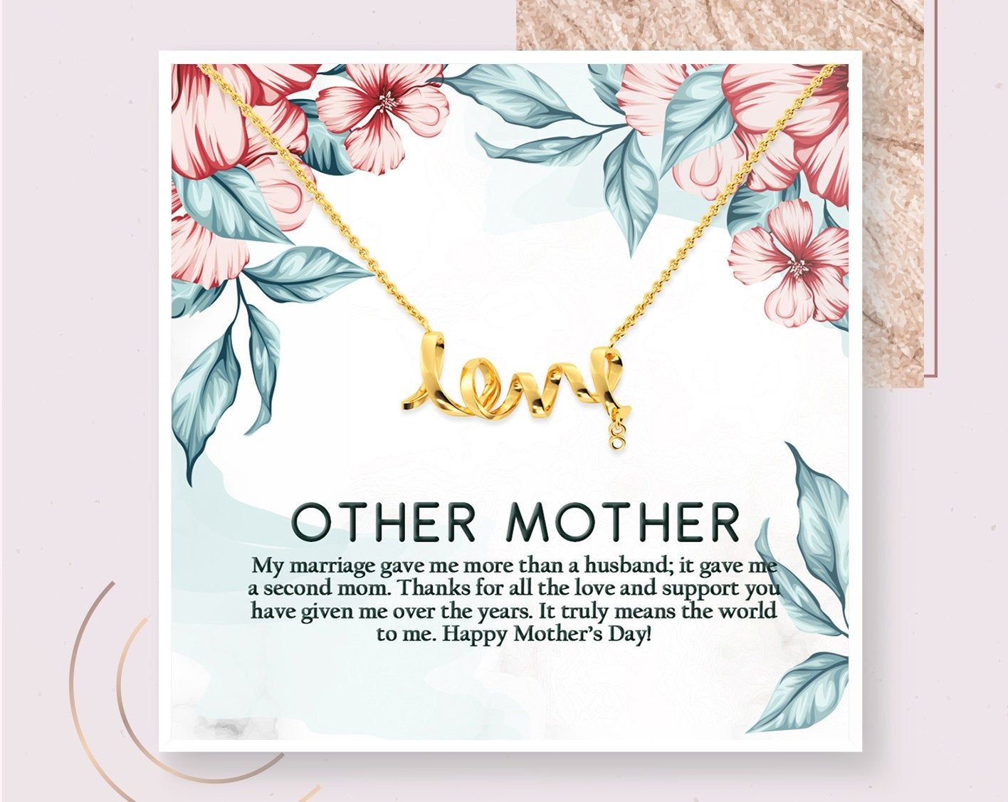 Mothers Day Gift Other Mother Necklace Second Mom Gift Mother Etsy Step Mom Gifts Inspirational Gifts Gifts For Mom