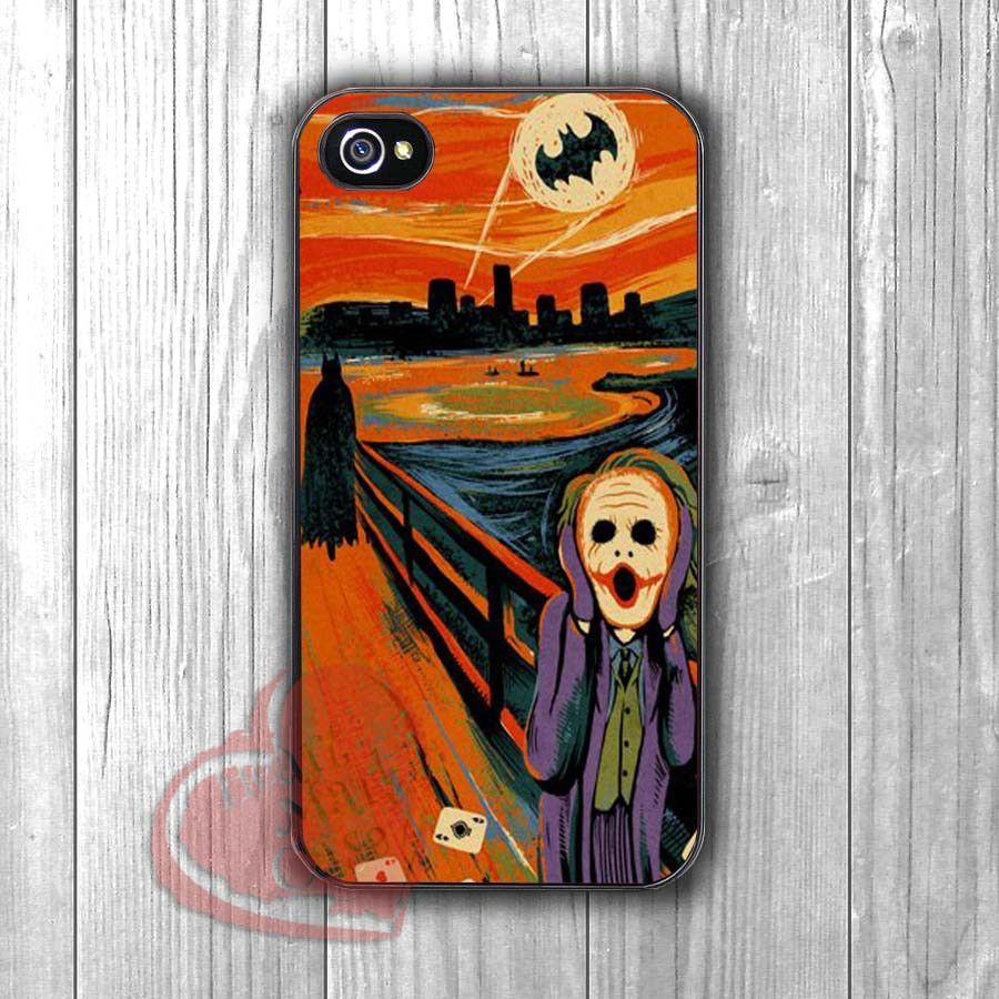 Batman Joker Screaming Starry Night Van Gogh -skal for iPhone 6S case, iPhone 5s case, iPhone 6 case, iPhone 4S, Samsung S6 Edge