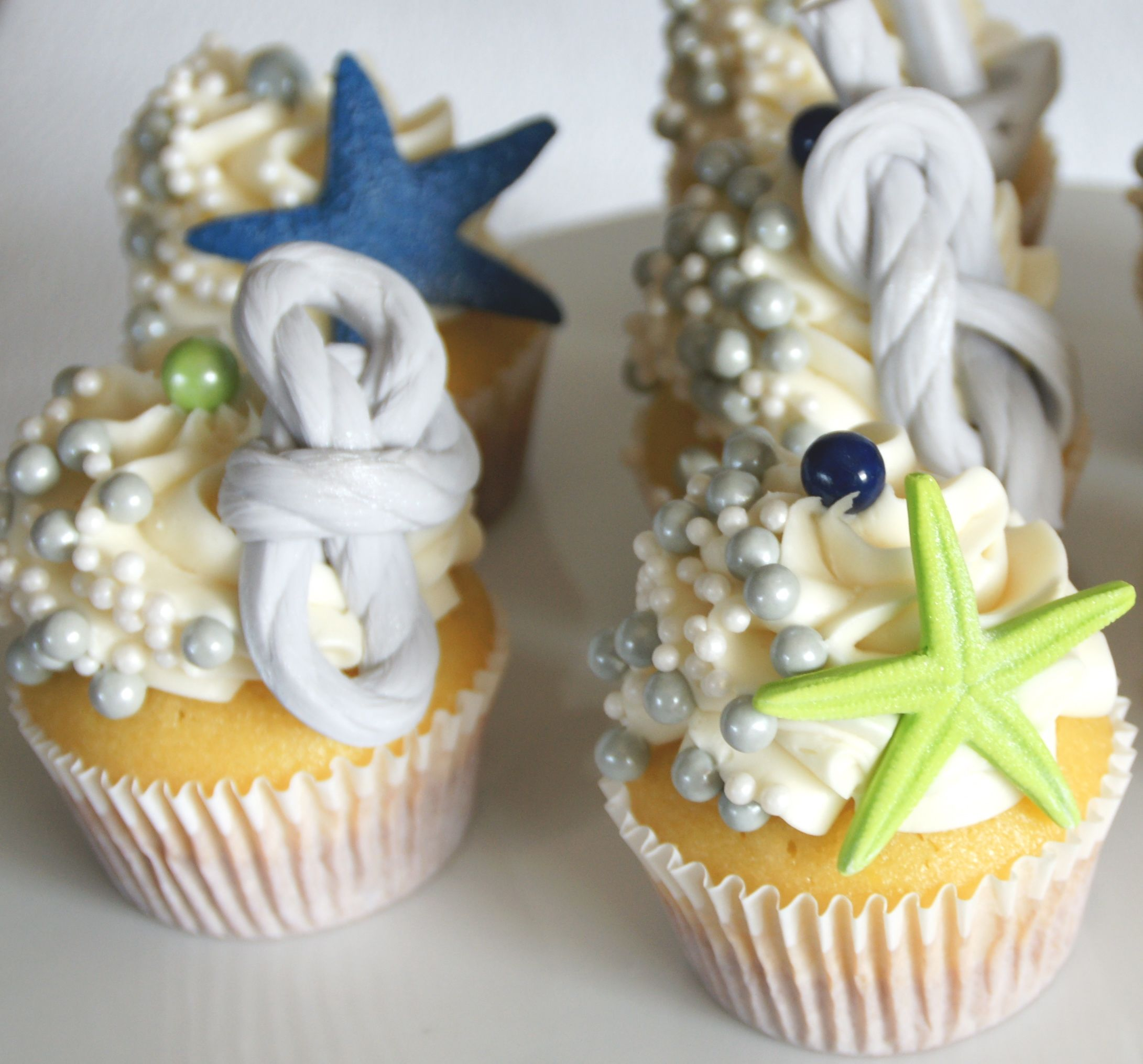 Nautical Theme Bridal Shower Cupcakes