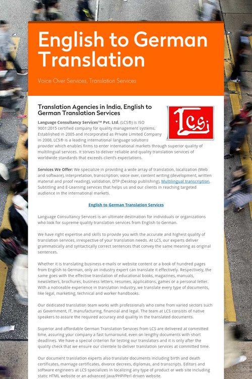English to German Translation | ** Pinterest Strategies ** | German