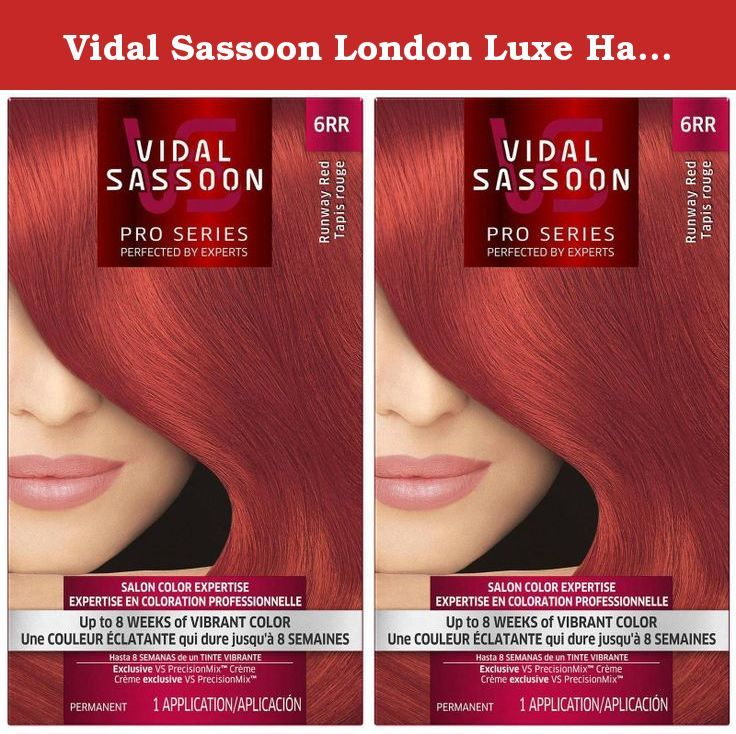 Vidal Sassoon London Luxe Hair Color Runway Red 6rr 2 Pack