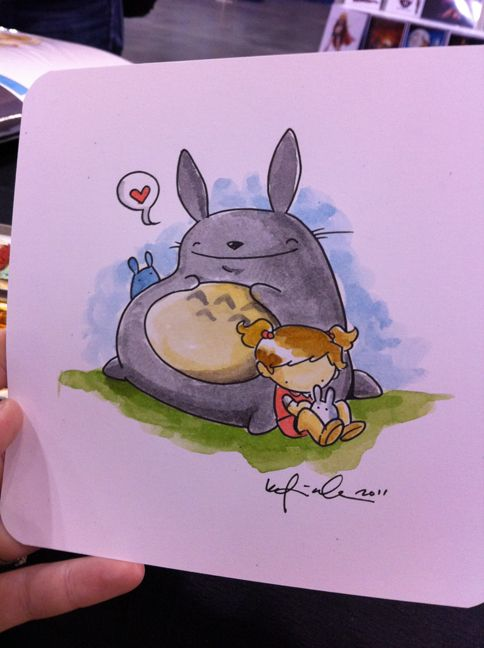 Mae and the Totoro's by Katie Cook.