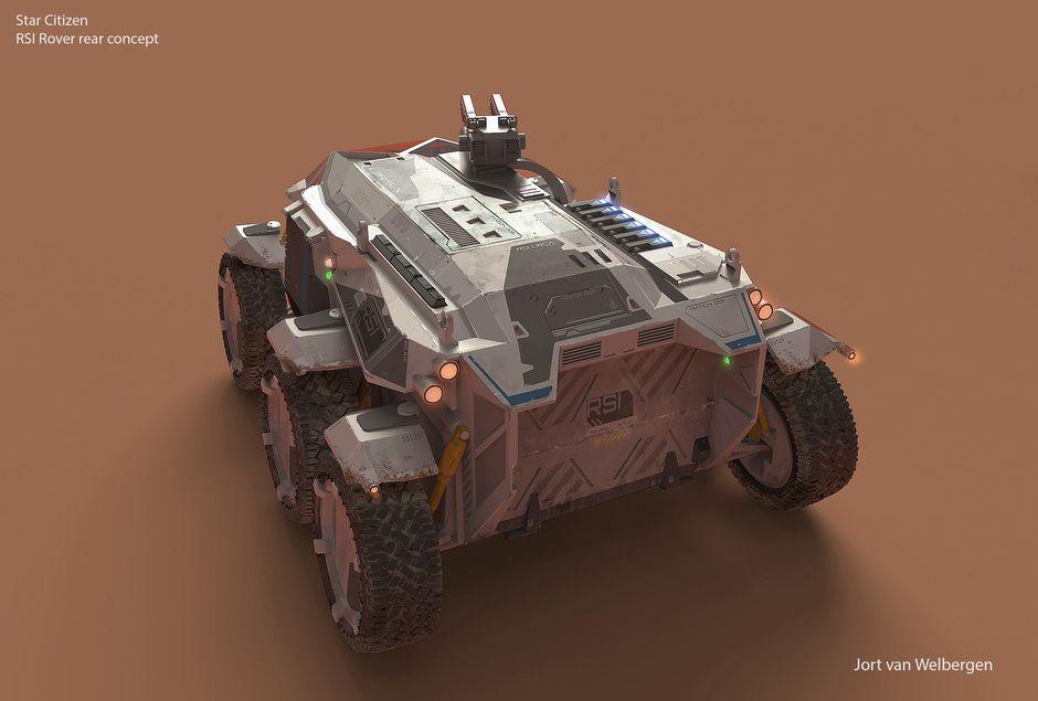 RSI Rover for Star Citizen by Jort van Welbergen   Design   2D   CGSociety