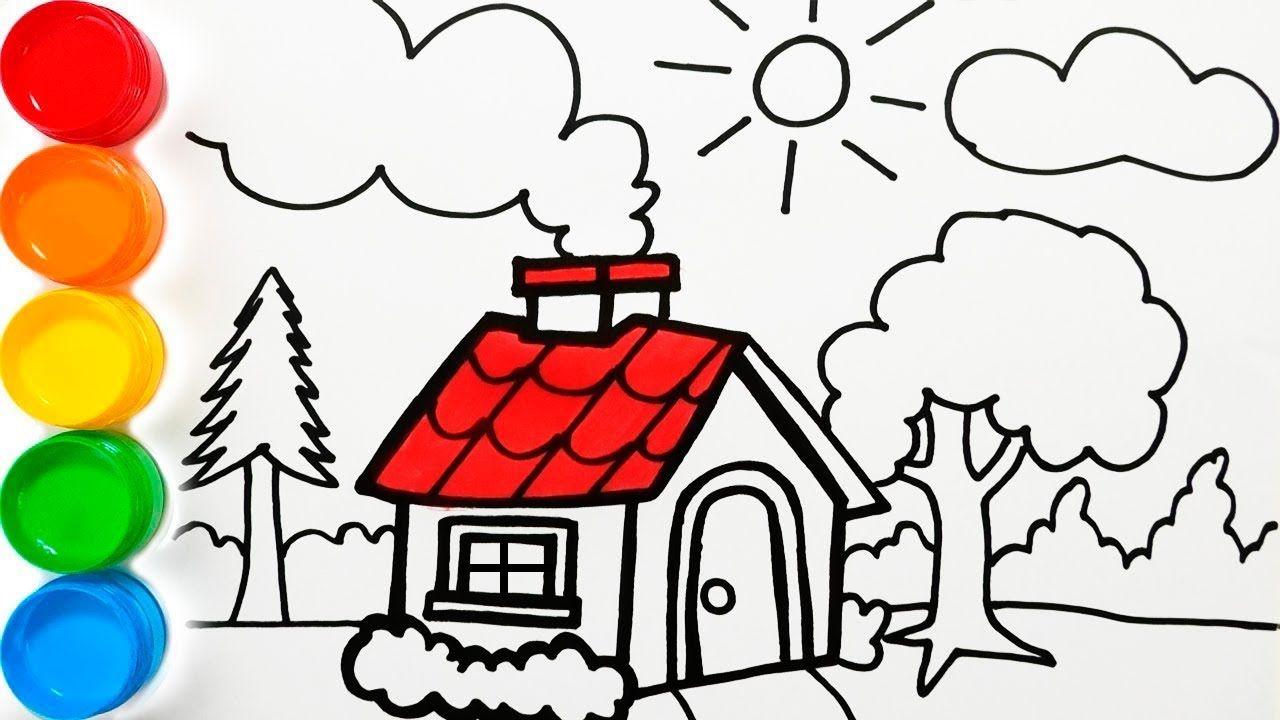 Dibuja Y Colorea Una Casa De Campo Dibujos Para Ninos Coloreando Pag Dibujos Para Ninos Dibujos De Colores Dibujos De Casas Infantiles