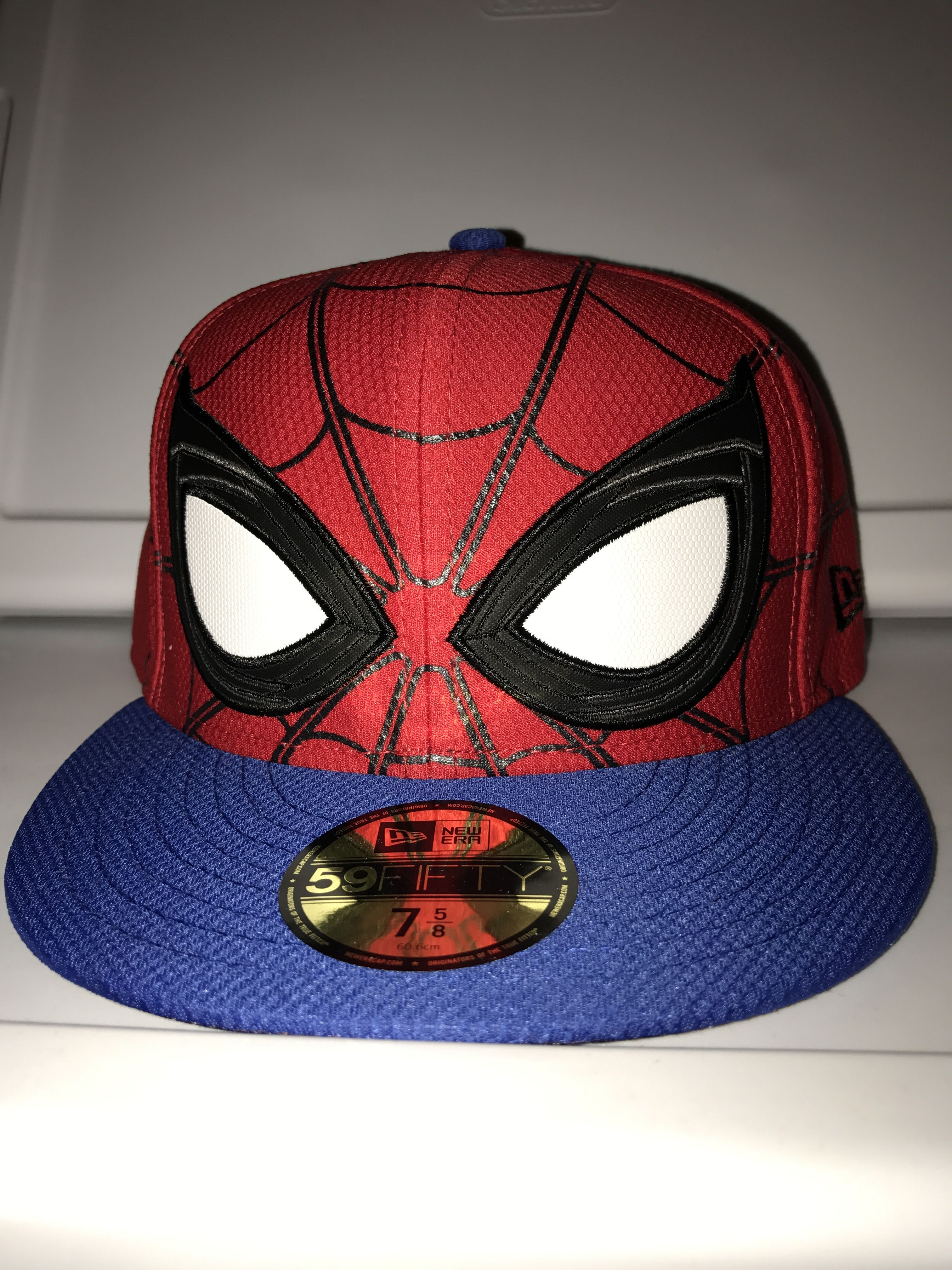 brand new 71402 491f3 New Era Marvel Spider-Man homecoming big face fitted