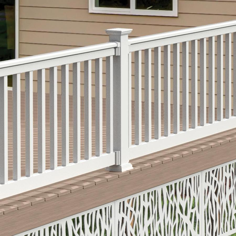 Freedom Assembled 10 Ft X 3 Ft Lincoln White Pvc Deck Railing Kit With Balusters At Lowes Com Pvc Decking Deck Railing Kits Deck Railings