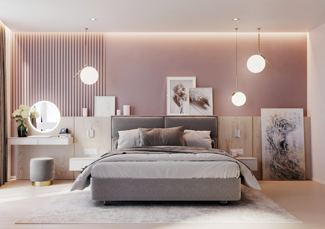 Accentuate The Finished Look With Some Stylish Bedroom Pendant Lights Too Stylish Bedroom Luxurious Bedrooms Pink Bedrooms