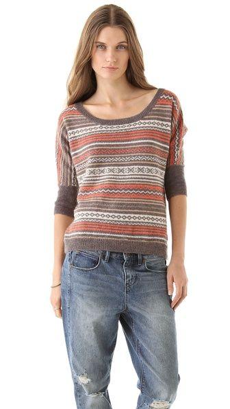 Splendid Aspen Fair Isle Sweater