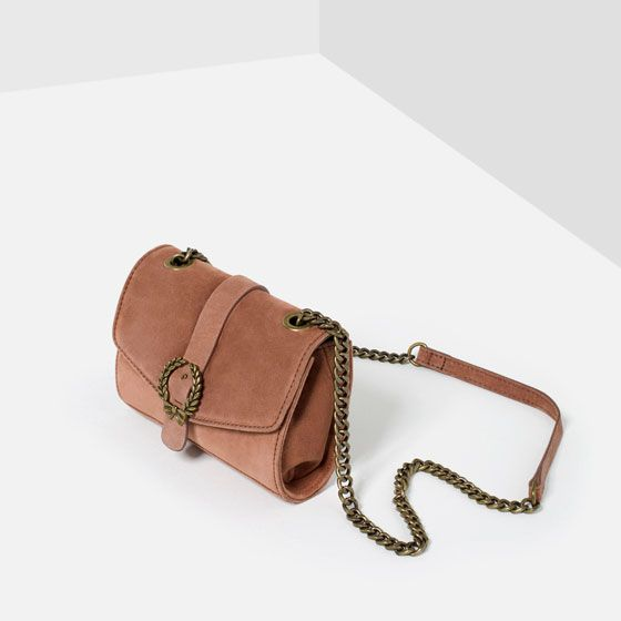 6af87e8c1d9 Image 3 of LEATHER CROSSBODY BAG WITH BUCKLE from Zara | SUMMER16 ...