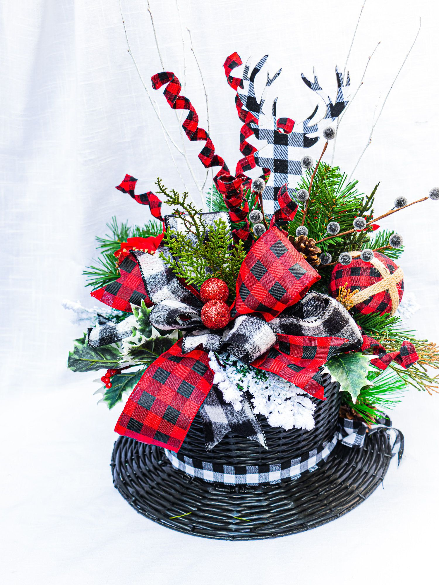 Extra large snowman top hat, Christmas centerpiece