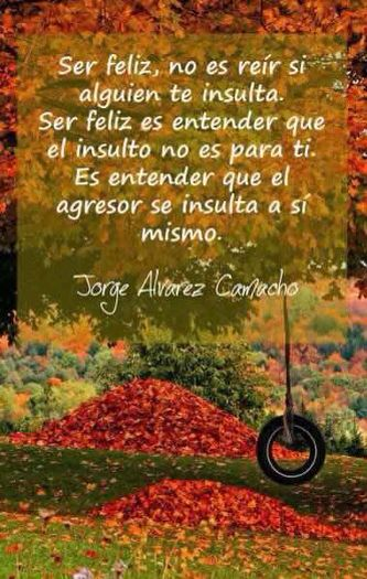 Ser Feliz No Es Reír Si Alguien Te Insulta Twitter Jorgealvarezca Spanish Quotes Quotes Life