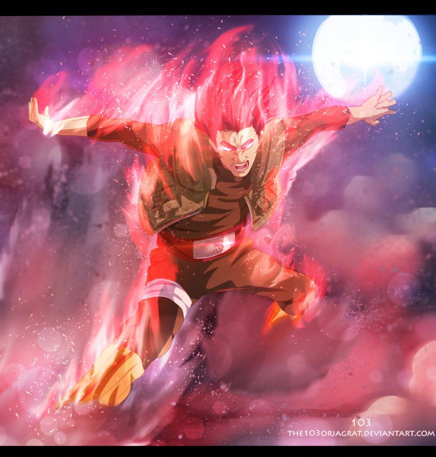 might gai gate of death by the103orjagrat on deviantart naruto