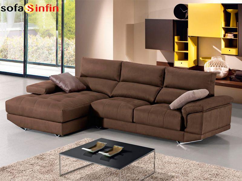 Sofá con chaise-longue modelo Oberon fabricado por Divani Star en ...