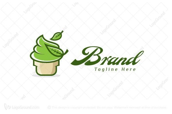 Photo of Green tea ice cream logo