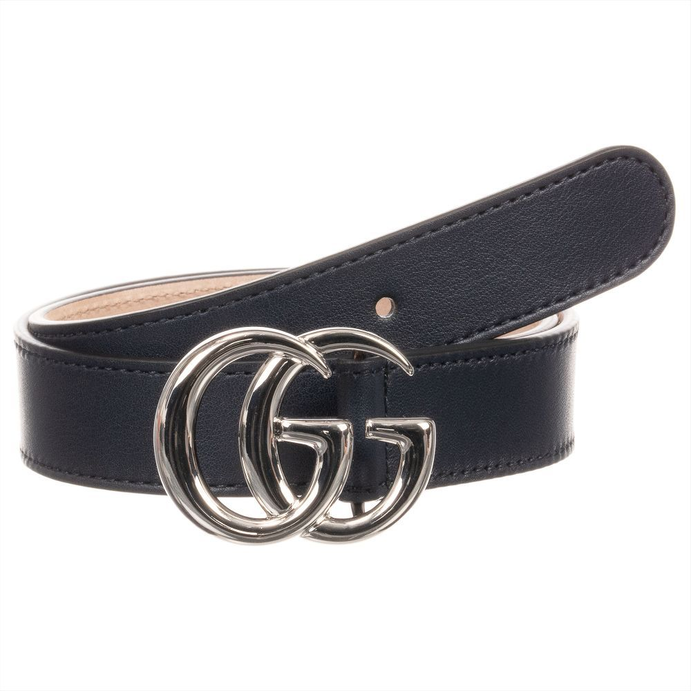 9130abe27e5 Gucci - Blue Leather GG Buckle Belt