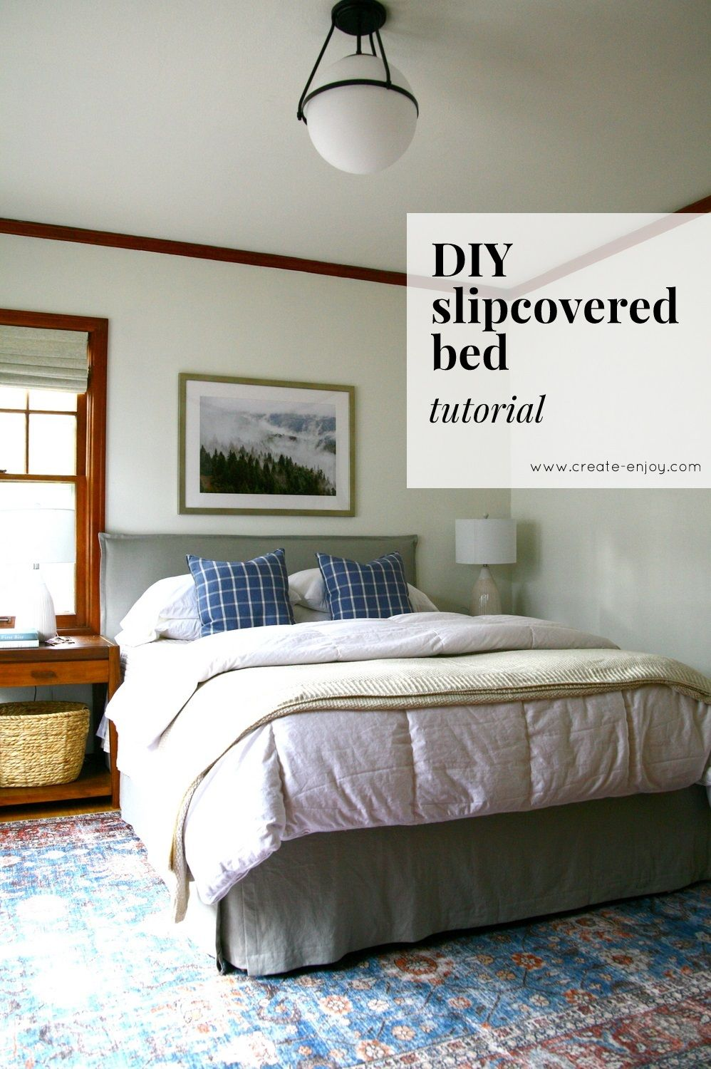 Diy Upholstered Slipcovered Bed Tutorial Slipcovers Diy
