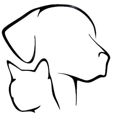 Dog Cat Lover Pet Silhouette Cool Car Truck Window Vinyl Decal Sticker 12 COLORS | eBay