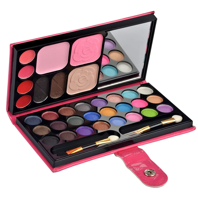 Ecvtop Professional Makeup Kit Eye Shadow Lip Gloss Blush