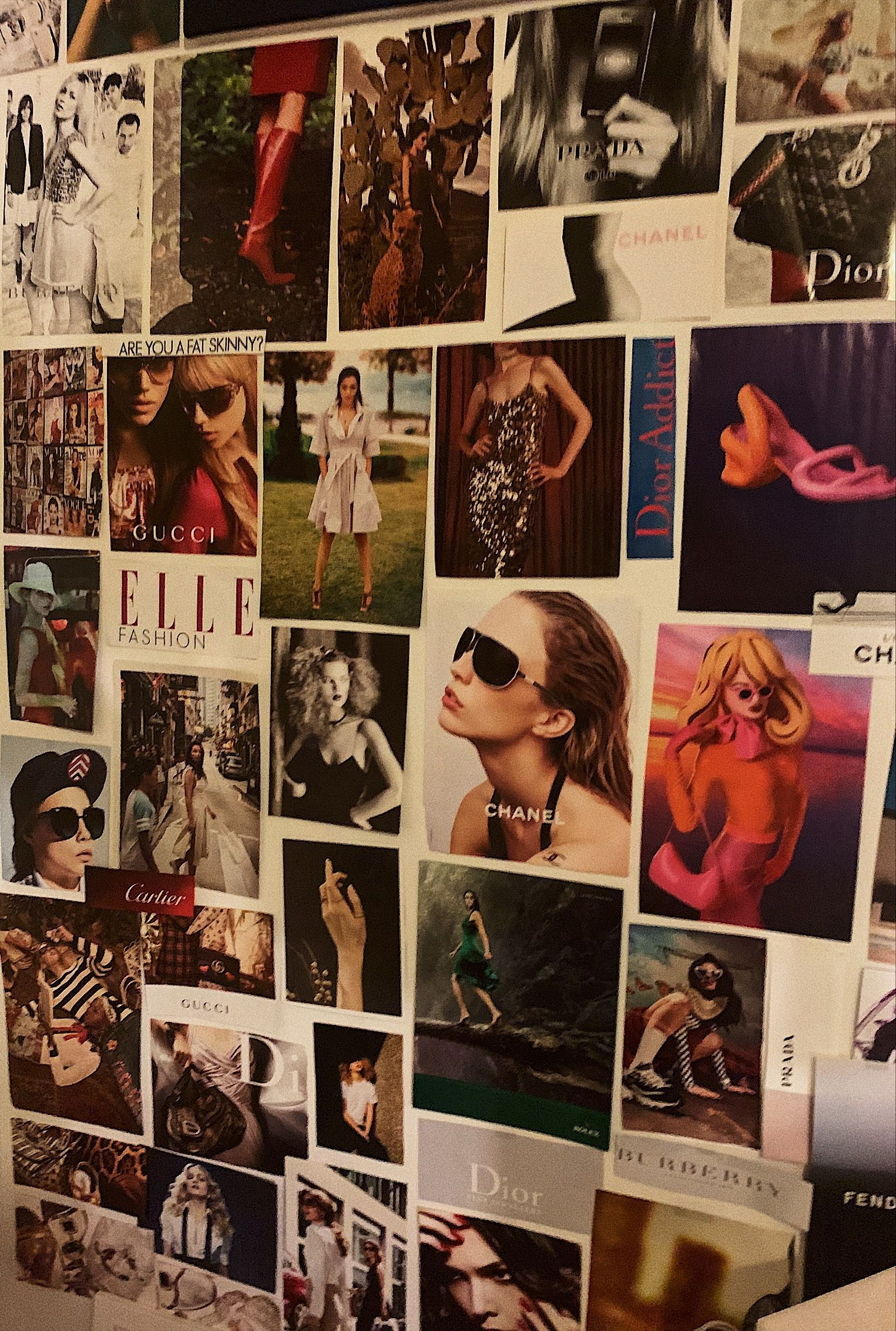 Vogue / room deco #wallcollage Magazine collage wall room deco vogue models aesthetic inspo #collagewalls