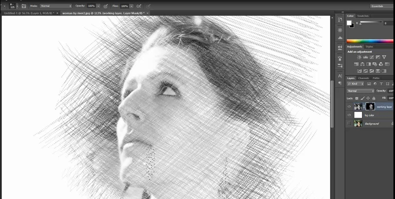 Pencil drawing sketch effect photoshop tutorial